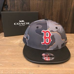 NWT Authentic Coach New Era Camo Red Sox Hat